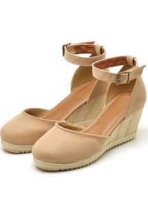 Sandália Ousy Shoes Anabela Nude