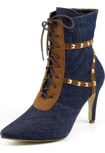 Bota Indian Line Jeans Com Spike