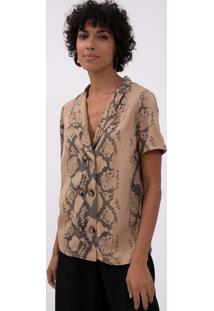 Camisa Animal Print Com Botões