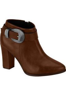 Ankle Boots Feminina Beira Rio Fivela Cafe