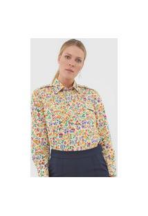 Camisa Polo Ralph Lauren Floral Amarela