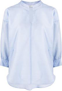 Peserico Blusa Dona Com Amarração - Azul