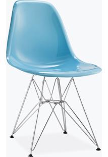 Cadeira Eames Dsr - Fibra De Vidro Azul Claro