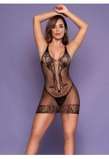Micro Vestido Com Transparência 1072 Yaffa