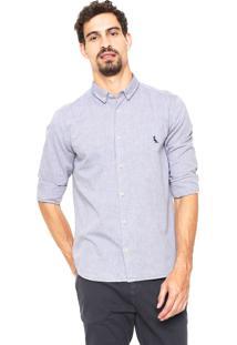 Camisa Reserva Regular Oxford Azul