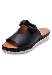 Sandália Laço Flat Form 6388411 Preto 1054