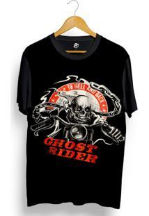 Camiseta Bsc Skull Ghost Rider Full Print - Masculino