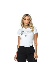 T-Shirt Daniela Cristina Gola U 02 602Dc10277 Branco