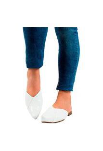 Sapatilha Mule Bico Fino Conforto Branco