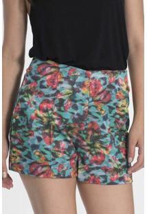 Shorts My Place Hot Pants Estampado - Feminino