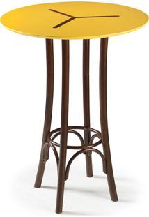 Mesa Bistrô Opzione 105 Cm 428 Imbuia/Amarelo - Maxima