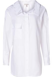 Camisa Rosa Chá Barbara (Branco, Gg)