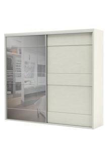 Armario Premium Com Espelho 2 Portas E 4 Gavetas Cor Off White 2,67 Mt (Larg) - 56462 Branco