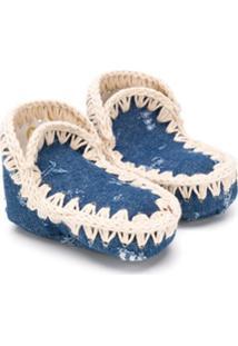 Mou Kids Eskimo Denim Ankle Boots - Azul