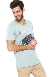 Camiseta Hering Gola V Verde