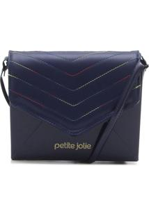 Bolsa Petite Jolie Matelassê Azul-Marinho