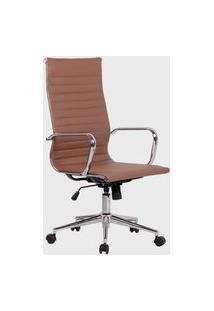 Cadeira Office Sevilha Alta Pu Marrom