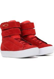 Tênis Sneaker Fit - Feminino-Vermelho