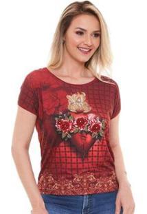 Blusa ÁgapeImaculado Coração Feminina - Feminino-Vermelho
