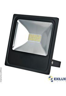 Refletor De Led Em Alumínio 30W Ip65 2100 Lúmens 6500K Cor De Luz: Branca - Exilux