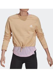 Blusão Adidas Cropped Dance Nude Feminino