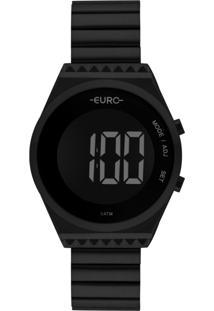 Relógio Feminino Euro Fashion Fit Slim Eubjt016Ad/4P 38Mm Aço Preto