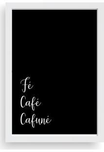 Quadro Love Decor Decorativo Fé, Café, Cafuné