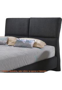 Cabeceira Super Confort Zevi Preta Casal 1,60 Mt (Larg) -49427 Sun House