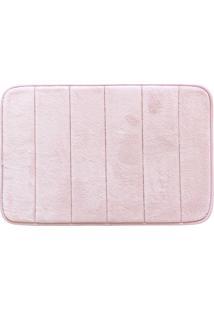 Tapete De Banheiro Super Soft- Rosa Claro- 60X40Cm