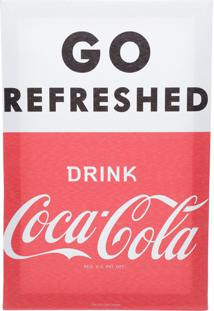 Quadro Tela Decorativa Coca-Cola Drink Go Refreshed Vermelho E Branco 20X1,5X30 Cm Urban
