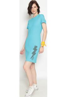 Vestido Canelado ''Zoomp''- Azul Preto- Zoompzoomp