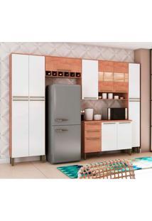 Cozinha Compacta Napoli Prime 13 Pt 2 Gv Branca E Castanho