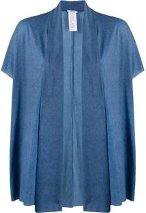Wolford Taylor Draped Cardigan - Azul