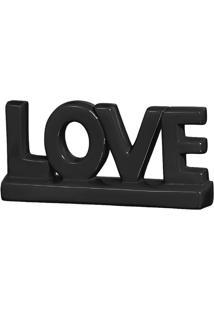 Escultura Decorativa Love Preta