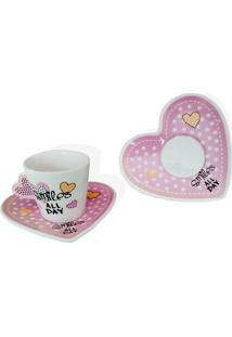 Jogo De Xícaras De Café Porcelana Smiles Cec05015 Wincy
