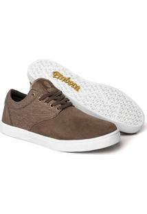 Tênis Embora Footwear Salazar Masculino - Masculino-Marrom+Branco