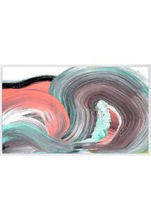 Quadro Decorativo Abstrato- Branco & Salmã£O- 70X60Cmarte Prã³Pria