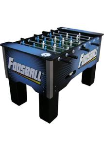 Mesa Foosball Embutido Boneco Nylon - Unissex-Azul