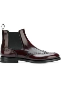 Church'S Ankle Boot 'Ketsby' De Couro - Vermelho