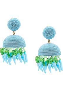 Rebecca De Ravenel Drop Chandelier Earrings - Azul