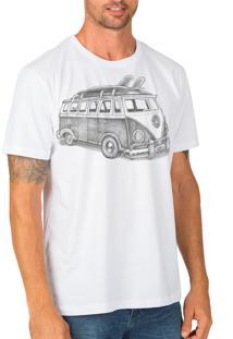 Camiseta Urza Kombi Bw Branca