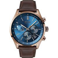 c6338d91a88 Relógio Hugo Boss Masculino Couro Marrom - 1513604
