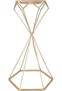 Castiçal Geometric Dourado