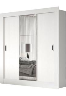 Guarda-Roupa Casal Luiza Com 1 Espelho 3 Pt Branco
