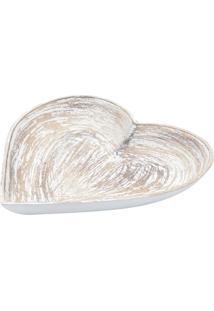 Bandeja Heart Shapped Traces- Bege & Branca- 3,5X34,Urban