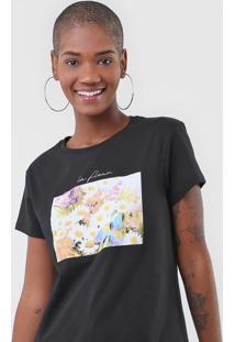 Camiseta Fiveblu La Fleur Preta - Kanui
