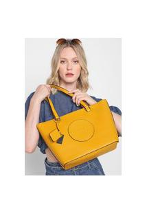 Bolsa Guess Tote Logo Amarela