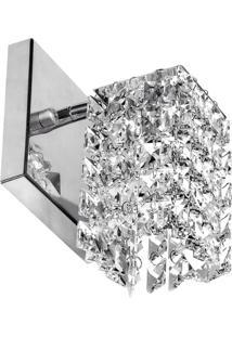 Arandela De Cristal Legitimo Clearwall Perfeita - Prata - Dafiti