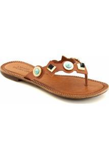 111be51fc ... Rasteira Flat Numeração Especial Sapato Show 401E - Feminino-Caramelo