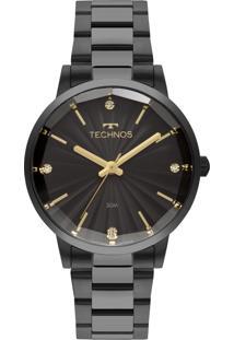 Relógio Feminino Technos Fashion Trend 2036Mkw/4P 42Mm Aço Preto - Tricae